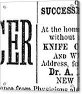 Patent Medicine, 1876 Acrylic Print
