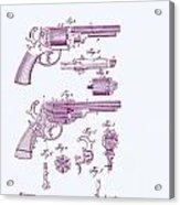 Patented Revolver In Purple Acrylic Print