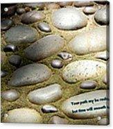 Path Of Pebbles  Acrylic Print