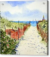 Path To East Beach-watch Hill Ri Acrylic Print
