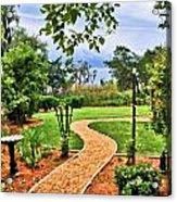 Garden Path To Wild Marsh Acrylic Print