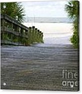 Path To The Empty Beach Acrylic Print
