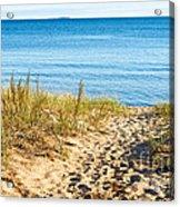 Path To The Lake Superior Beach Acrylic Print