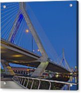 Path To The Leonard P. Zakim Bridge Acrylic Print