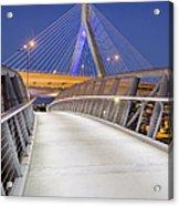 Path To The Zakim Bridge Acrylic Print