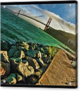 Pathway To The Golden Gate Acrylic Print