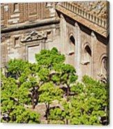 Patio De Los Naranjos Of Seville Cathedral Acrylic Print
