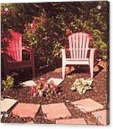 Patio Garden Acrylic Print