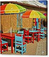 Patio Old Town Albuquerque New Mexico Dsc08203 Acrylic Print