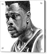 Patrick Ewing Acrylic Print by Harry West
