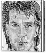 Patrick Swayze In 1989 Acrylic Print