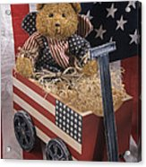 Patriot Bear Acrylic Print by Sharon Elliott