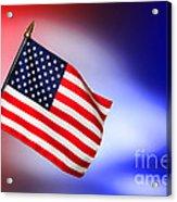 Patriotic American Flag Acrylic Print