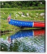 Patriotic Canoe #1 Acrylic Print