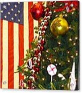 Patriotic Christmas Acrylic Print