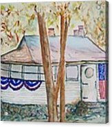 Patriotic Cottage Acrylic Print