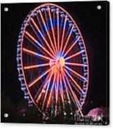Patriotic Ferris Wheel Acrylic Print
