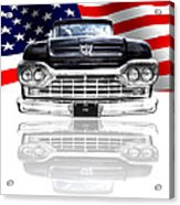 Patriotic Ford F100 1960 Acrylic Print
