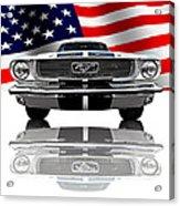 Patriotic Ford Mustang 1966 Acrylic Print