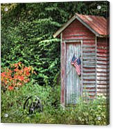 Patriotic Outhouse Acrylic Print