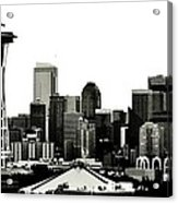Patriotic Seattle Acrylic Print