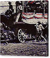 Patriotic Wagon Stone And Congress Tucson Arizona C.1900 Restored Color Texture Added 2008 Acrylic Print