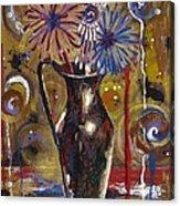 Patriotism Blooms Acrylic Print