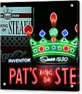 Pat's King Of Steaks Acrylic Print