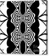 Pattern Black White Abstract Art No.293. Acrylic Print