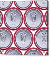 Pattern Drink Cans Acrylic Print