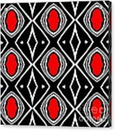 Pattern Geometric Black White Red Art No.391. Acrylic Print by Drinka Mercep