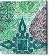 Pattern In Blue IIi Acrylic Print