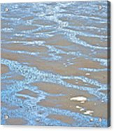 Pattern In Mud Flats At Low Tide In Kachemak Bay From Homer Spit-alaska Acrylic Print