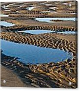 Pattern In The Sand Acrylic Print