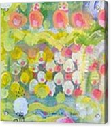 Pattern Of Roses And Flowers Acrylic Print