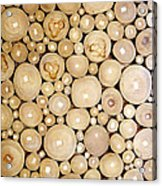 Pattern Of The Wood Pieces Acrylic Print