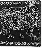 Patterned Rhino Acrylic Print