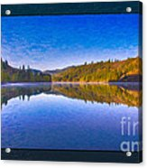 Patterson Lake Fall Morning Abstract Landscape Painting Acrylic Print