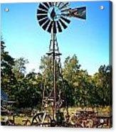 Patterson Windmill Acrylic Print by Marty Koch