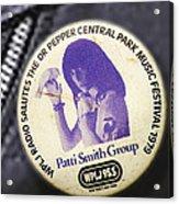 Patti Smith '79 Acrylic Print