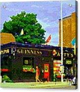 Patty's Pub Guinness On The Glebe Restaurant Bar Bank And Ossington Paintings Of Ottawa Art Cspandau Acrylic Print