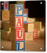Paul - Alphabet Blocks Acrylic Print