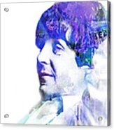 Paul Mccartney  Acrylic Print by Mike Maher