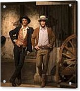 Paul Newman And Robert Redford At Madame Tussaud Acrylic Print