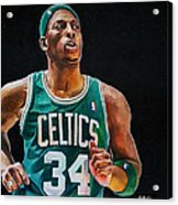 Paul Pierce - The Truth Acrylic Print by Michael  Pattison