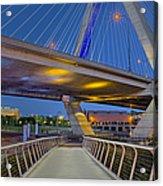 Paul Revere Park And The Zakim Bridge Acrylic Print
