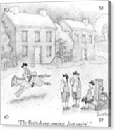 Paul Revere Rides Past Two Colonial Men Smoking Acrylic Print