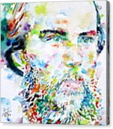 Paul Verlaine - Watercolor Portrait.2 Acrylic Print