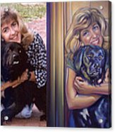 Paula Commissioned Portrait Side By Side Acrylic Print