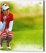 Paula Creamer - The Ricoh Women British Open Acrylic Print
